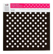 Tulip Design Stencil Template, Large, Polka Dots