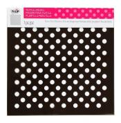 Tulip Design Stencil Template, Large, Polka Dots