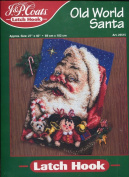 J. & P. Coats Latch Hook Rug Kit ~ Christmas Old World Santa Claus