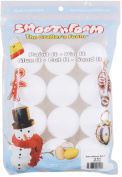 Smoothfoam 12-Pack Balls Crafts Foam for Modelling, 5.1cm , White