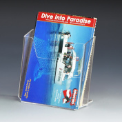 Source One LLC Vertical Post Card Holder Clear Acrylic