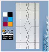Allure Leaded Glass Black Privacy Static Cling Window Film - 60cm x 120cm