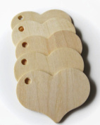 MyCraftSupplies Unfinished Wood Heart Gift Tags Set of 25