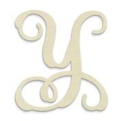 """UNFINISHEDWOODCO Single Vine Monogram Unfinished Letter, 50cm , Letter """"Y"""""""
