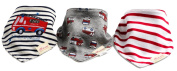 Lace Kenzola 3-pc Soft & Comfortable Baby Bandana Drooler Bibs Scarf Set for Girls & for Boys