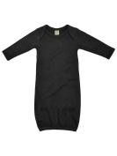 Kavio! Infants Interlock Lap Shoulder Long Sleeve Gown Black 6M
