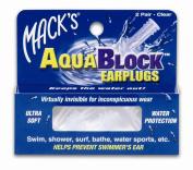 Mack's AquaBlock Earplugs, Purple, 2 pair
