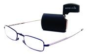 Foster Grant MicroVision Gideon Compact Reading Glasses, Black, +1.00