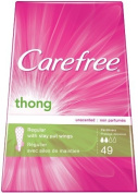 Carefree Thong Pantiliners-Unscented, 49-count