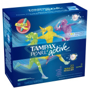 Tampax Triple Pack Unscented Plastic Applicator Tampons, 36 Count, 36.000 Count