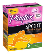 Playtex Sport Fresh Balance Tampons, Super Scented, 16 Count