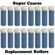 Super Coarse Micro Mineral Emjoi Micro-Pedi Compatible Replacement Rollers for Unisex Tough Calluses