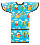AM PM Kids! Sleeved Toddler Laminated Bib, Hoot Owls