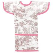 AM PM Kids! Sleeved Toddler Laminated Bib, Pink Toile