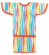 AM PM Kids! Sleeved Toddler Laminated Bib, Stripes