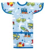 AM PM Kids! Sleeved Toddler Laminated Bib, Planes, Trains, Autos