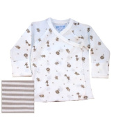 Nature's Nursery Long Sleeve Side Snap T - 3-6M Stripe