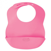 Summer Infant Bibbity Rinse and Roll Portable Bib, Pink