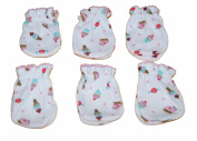 6 Pairs Cotton Newborn Baby/infant Girl No Scratch Mittens Gloves - Litte Cupcake