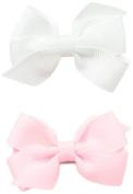 No Slippy Hair Clippy Baby-Girls Newborn Ava Two Pack Bow