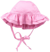 Flap Happy Baby-Girls Infant Upf 50+ Double Ruffle Hats