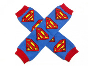 KWC - Superman Superbaby Blue Red Baby Leg Warmer