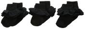 Jefferies Socks Baby-girls Infant Misty Ruffle Turn Cuff Socks 3 Pair Pack