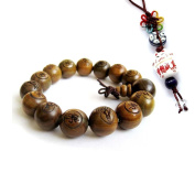 Tibetan Buddhist Green Sandalwood Beads Prayer Mala with free pendant