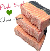 Double Love with Pink Salt and Activated Charcoal Soap, Cold Process All Natural