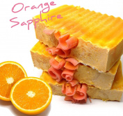 Orange Sapphire Soap Bar, Cold Process All Natural, No Paraben