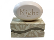 "Personalised Scented Soap - Soap Sentiments - Luxury Single Bar Box - Personalised with ""Right"""