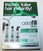 Cerafill Defy Kit - Thicker, Fuller Hair Instantly (For Normal to Thin Hair) 3pc