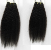25cm - 46cm brazilian Virgin Hair Kinky Stright 100% Human Hair Weave Extension Grade 5a Unprocessed Hair 200g/ 2 Boundles 1b Natural Colour