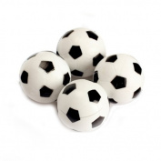 TOOGOO(R) 4pcs 32mm Plastic Soccer Table Foosball Ball Football Fussball