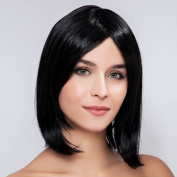 Diy Bob Stylish Women's Pretty Natural Black Straight Fashion Heat-resistance Full Hair Wigs