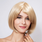 Diy Short Natural Women's Straight Blonde Fashion Heat-resistance Full Hair Wigs