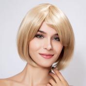 Diy Short Natural Women's Straight Blonde Fashion Heat-resistance Full Hair Wigs