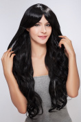 Diy Stunning Long Black Natural Fancy Straight women's lady Full Hair Wig Wigs