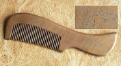 Hetty's Handcrafted Natural Healthy Hair Care Peach Wood Comb - Anti Dandruff, Non-static and Eco-friendly for Long, Curly Hair with Natural Aromatic Smell, Great for Scalp and Hair.