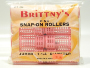 Brittny's Pink Snap-on Rollers 8 Pcs.