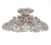 New Fashion White Crystal Metal Hair Claws Clips Pin flowers-water drop design