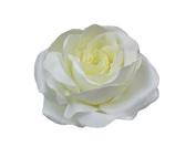 Angel Rose Flower Hair Clip Bridal Wedding 12cm .