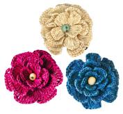 Brazilian Hand-crocheted Flower Clip Set