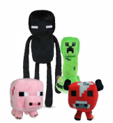 Official Minecraft Overworld Plush Figure SET of 4 Includes