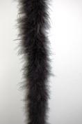 Marabou Feather Boa 2 Yards Long (180cm ) 22 Grammes - MIDNIGHT BLACK