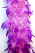 80 Gramme Chandelle Feather Boa 2 Yards - LILAC w/ PURPLE Tips