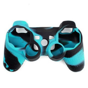 TOOGOO(R) Camouflage Silicone Skin Case Cover For PS3/PS2 Playstation Controller
