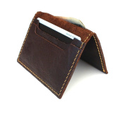 Genuine Italian Leather Handmade Mini Miniature Mens Wallet Money Id Credit Cards Holder Luxury Compact Retro