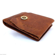 Men Money Genuine Italian Leather Wallet Skin Coin Pocket Purse Soft Retro Handcraft Style.