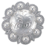 BS9163-3-SP Silver Plated 1 and 1.9cm Wide Engraved Berry Concho